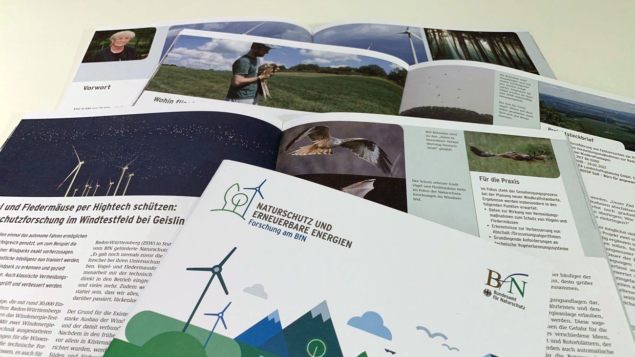 Fotos der aufgeschlagenen Broschüre