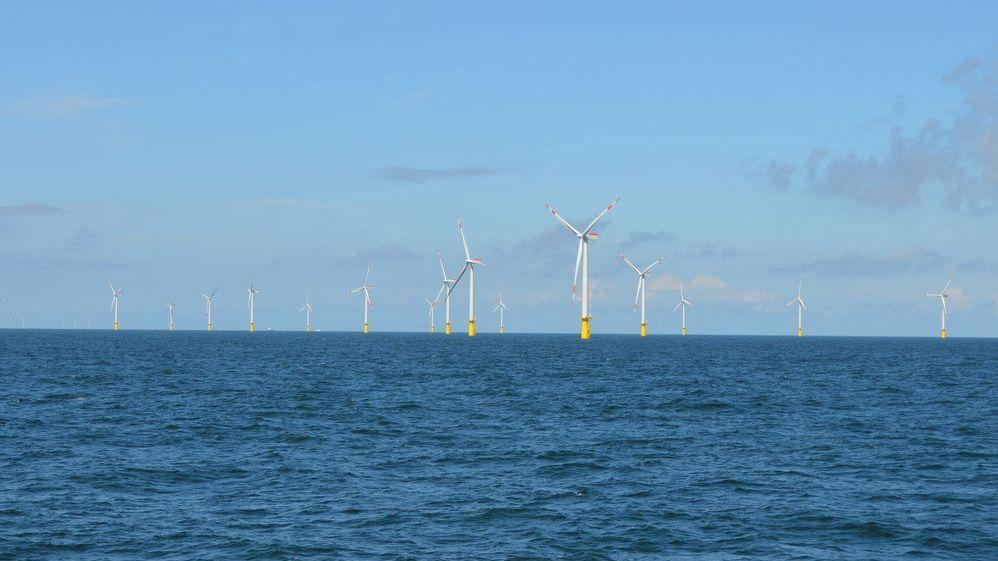 Windräder auf hoher See